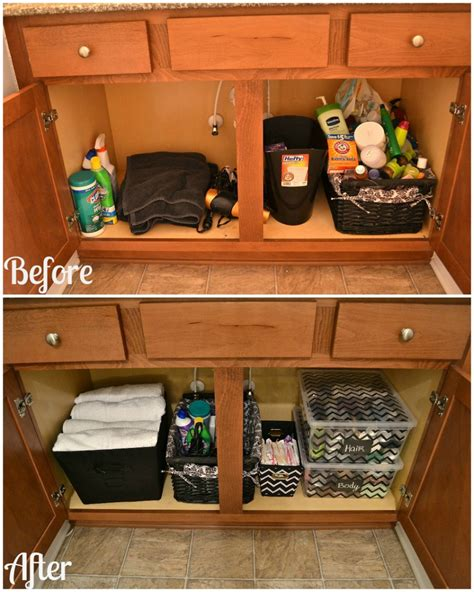 organize  bathroom cabinet great tips