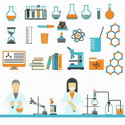 Laboratory Symbols Science Vector Chemistry Test Medical