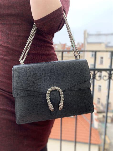 gucci dionysus medium leather shoulder bag black luxury bags