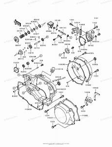 Kawasaki Motorcycle 1993 Oem Parts Diagram For Engine