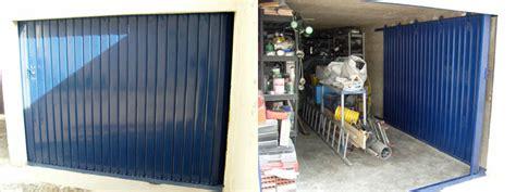 porte de garage coulissante acier portes de garage fermelec