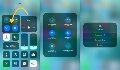 airdrop mac to iphone how to enable use airdrop in ios 11 on iphone