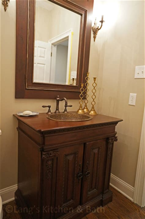 glamorous powder room design gallery langs kitchen bath