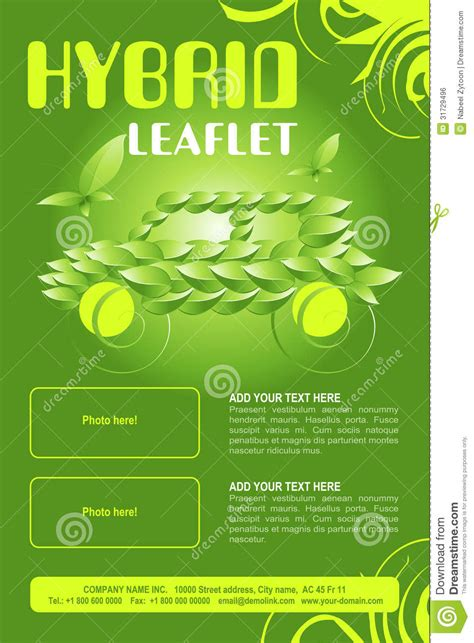 Leaflet Template Stock Images Royalty Free Images Leaflet Design Royalty Free Stock Image Image 31729496