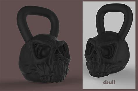 kettlebell designs skull designer cadcrowd