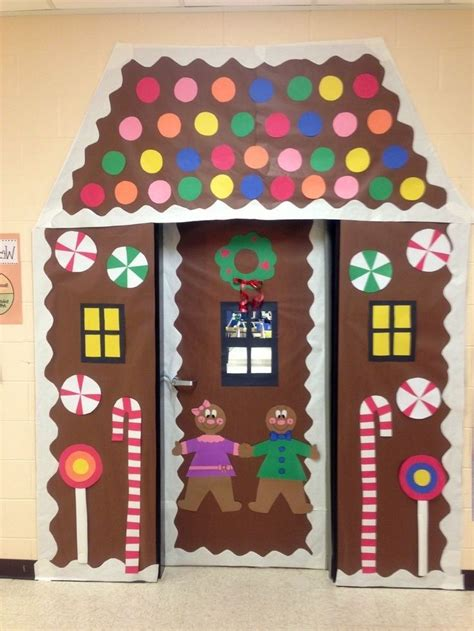 gingerbread home decor door decorating contest gingerbread house