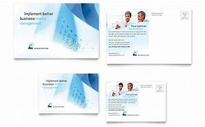 financial services postcard templates word publisher With microsoft office postcard templates