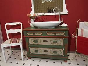 Badmöbel Vintage Style : flower power landhaus waschtische zum verlieben ~ Michelbontemps.com Haus und Dekorationen