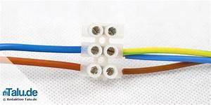 Lampe Anschließen 2 Kabel Ohne Farbe : lampe anschlie en anleitung f r alle lampentypen ~ Orissabook.com Haus und Dekorationen