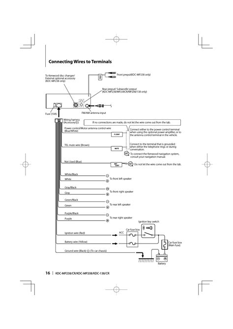 kenwood kdc 210u wiring diagrams kenwood speaker wiring