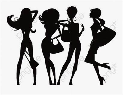 Silhouette Friends Four Clipart Clipartkey