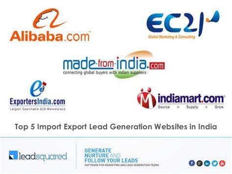 best b2b websites top 5 import export business websites in india