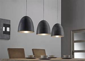 Luminaire Ikea Suspension : luminaire suspension gris 3 lampes design greno ~ Teatrodelosmanantiales.com Idées de Décoration