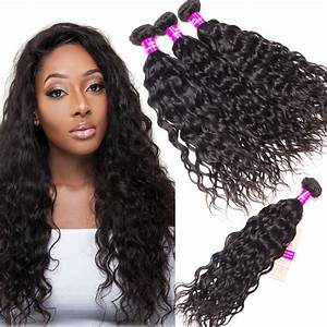 Brazilian Wet And Wavy Human Hair Weave 4 Bundles