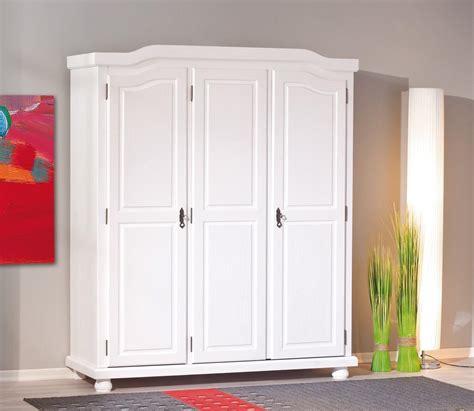 Kleiderschrank Bastian Kiefer Massiv Weiß Im Landhausstil