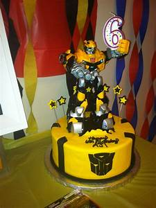 Awesome Bumblebee Transformer cake made for my little boy ...