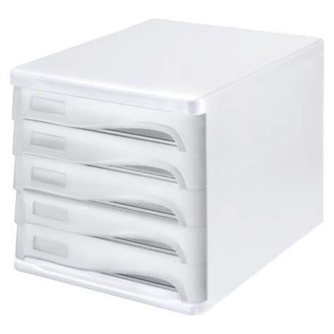 bloc de classement bureau bloc de rangement 224 5 tiroirs blanc et gris