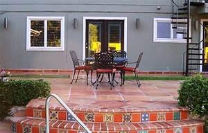 Saltillo back patio patio by rustico tile and stone for Saltillo tile outdoor patio