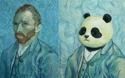 Imagines Pandas Iconic Paintings Artist They Lowgif