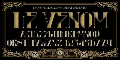 h74 le venom font by hydro74 fontspring