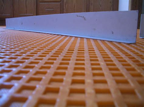 how to install suntouch warmwire in floor heating part 2