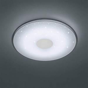 edle LED Deckenleuchte mit Fernbedienung und Sternenhimmel