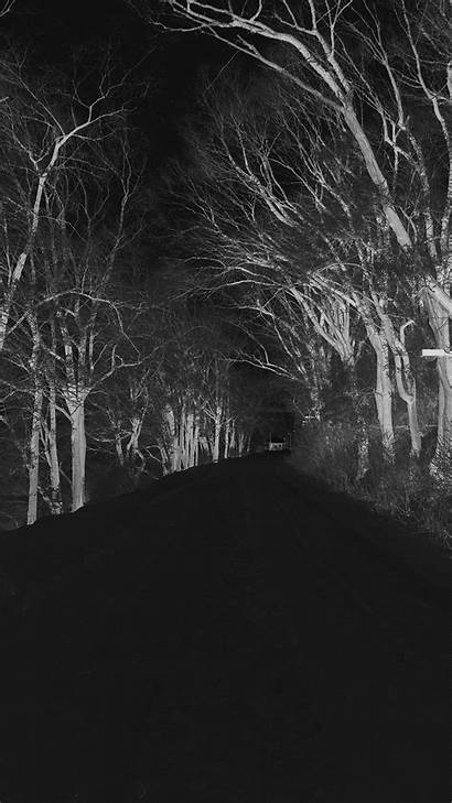 Scary Iphone Dark Nature Wallpapers Winter Road