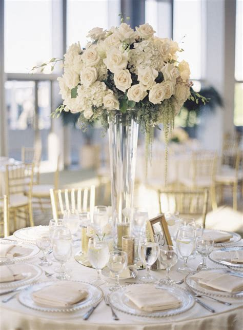 table centerpieces using photos design for wedding table decorations using a round table