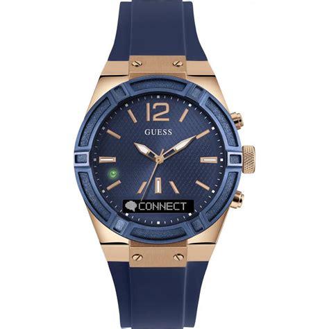 jam tangan guess gold montre guess connect c0002m1 montre connectée bleue