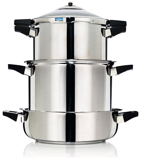 rikon kuhn pressure cooker duromatic steel stainless saucepan qt stockpot amazon larger