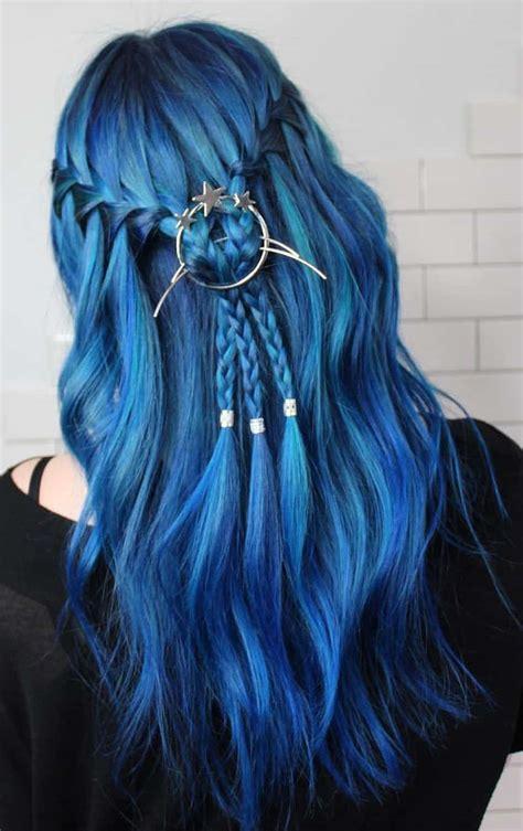 20 Blue Hair Color Ideas For Women Hairdo Hairstyle