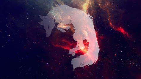 wolf space galaxy sleeping wallpapers hd desktop