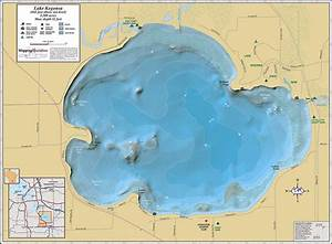 Lake Kegonsa Wall Map