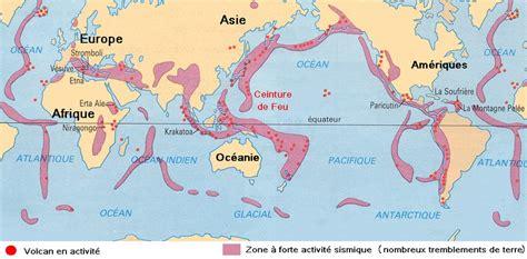 Carte Des Volcans Actifs Dans Le Monde by Volcans Et Zones Sismiques