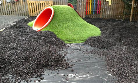 rubber chipping installation of rubber bark chippings playbark com