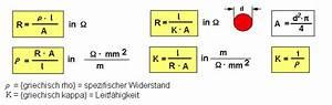 Querschnitt Berechnen Formel : l sung zum leiterwiderstand ~ Themetempest.com Abrechnung