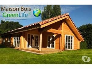 maison bois kit greenlife114m2 pret a monter direct usine With maison rondin bois prix 3 chalet bois kit belgique terrasse en bois