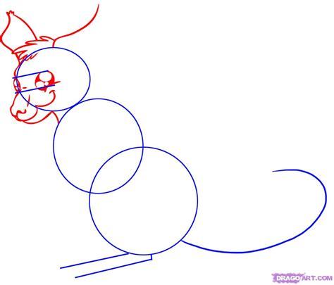 How To Draw A Cartoon Kangaroo Step By Step Cartoon