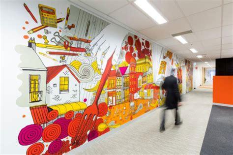 cool artwork livens  call center  inspire bank staff