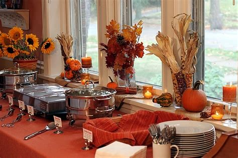 fall table thanksgiving buffet table easy fall decor