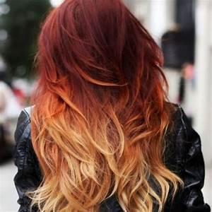 Ombré Hair Rouge : 50 fiery red ombre hair ideas hair motive hair motive ~ Melissatoandfro.com Idées de Décoration