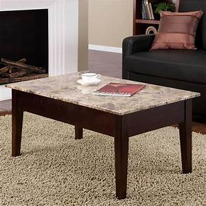faux marble lift top coffee table With faux white marble coffee table