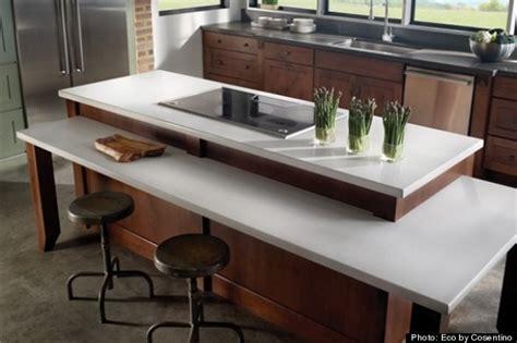 green kitchen countertops huffpost