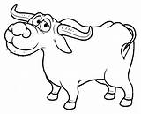 Buffalo Cartoon Clipart Coloring Pages Carabao Kalabaw Drawing Illustration Bills Vector Getcolorings Depositphotos Printable Water Getdrawings Clipground Cliparts Illustrations sketch template
