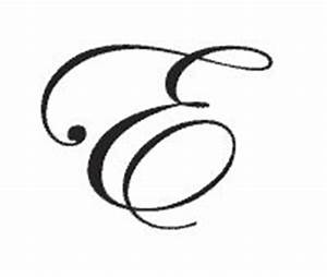 Pics For > Pretty Cursive Letter E | Initials, monograms ...