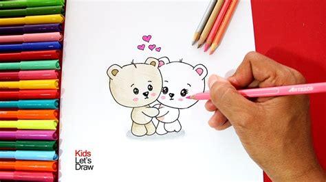 c 243 mo dibujar unos ositos enamorados how to draw loving bears