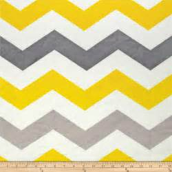 minky large chevron grey yellow silver discount designer