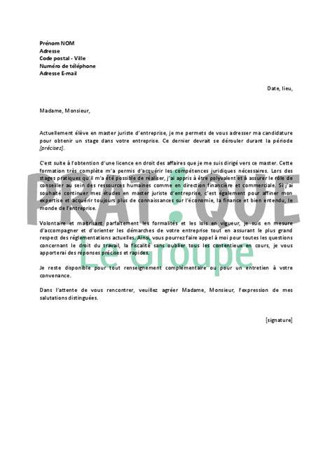 lettre de motivation master lettres modernes lettre de motivation pour un stage de master juriste d entreprise pratique fr
