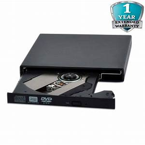 USB 2.0 External Slim CD DVD RW Burner Rewriter DVD Drive ...