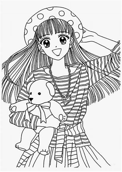 Coloring Pages Anime Adult Japanese Colouring Printable